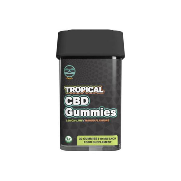 Zoetic 300mg CBD Chill Gummies - Tropical