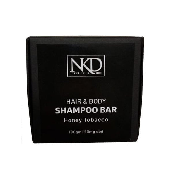 NKD 50mg CBD Speciality Body & Hair Shampoo Bar 100g - Honey Tobacco