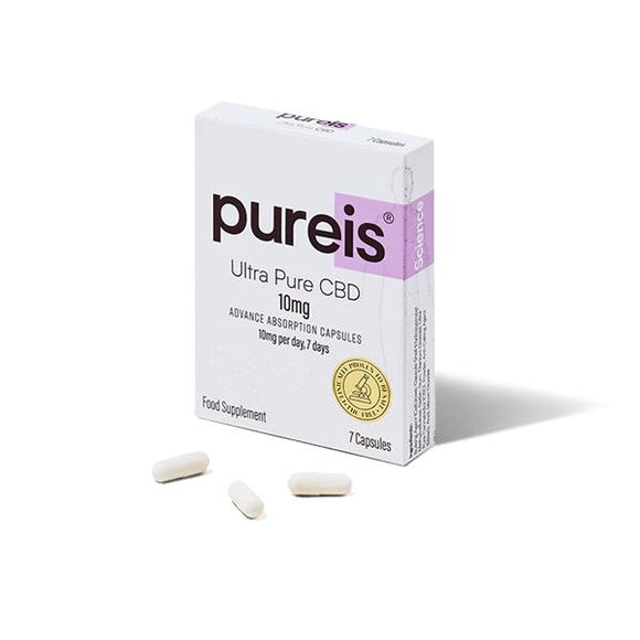 Pureis® 20mg CBD per day, 14 days Ultra Pure CBD Advanced Absorption Capsules