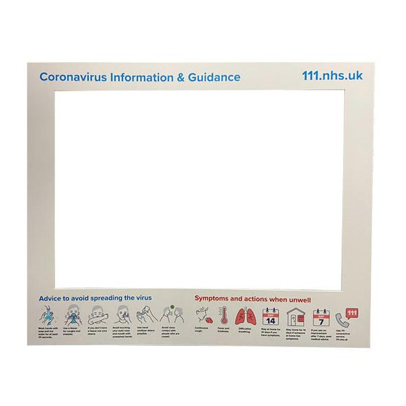 Large Retail Counter Barrier Hygiene Screen