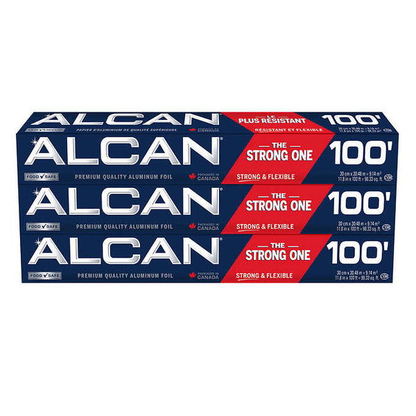 Alcan Aluminum Foil Wrap Pack of 3