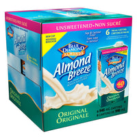 Almond Breeze Unsweetened Original Almond Milk 6 x 946 mL