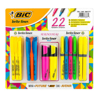 BIC Brite Liner Highlighters Pack of 22