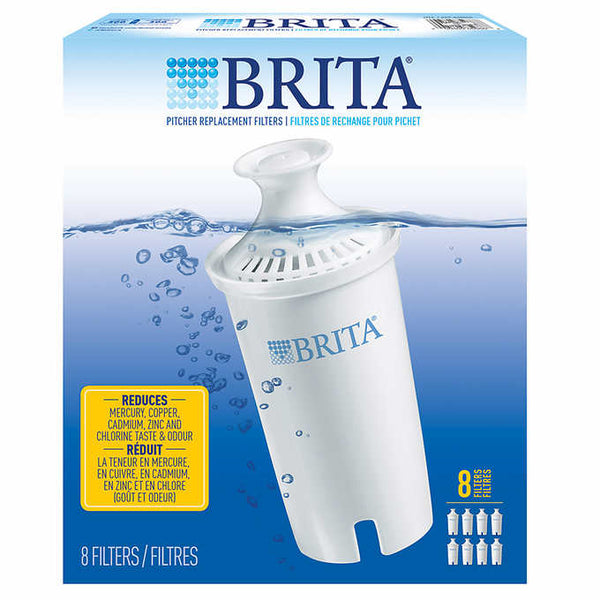 Brita Replacement Filter, 8-pack