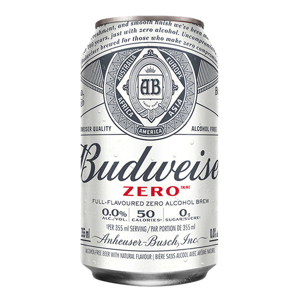 Budweiser Zero Non-alcoholic Beer 355 mL
