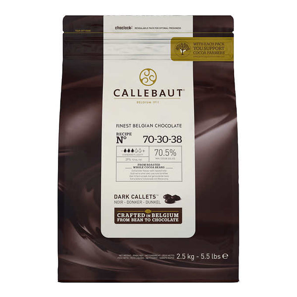 Callebaut Dark Belgian Chocolate Callets 2.5 kg ADEA COFFEE