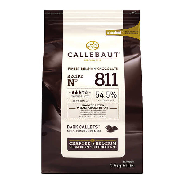 Callebaut Dark Callets 54.5% Chocolate 2.5 kg ADEA COFFEE