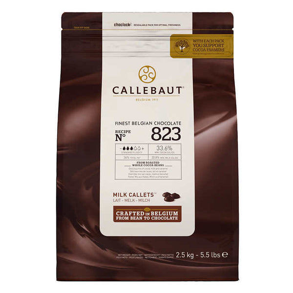 Callebaut Milk Callets 33.6% Chocolate 2.5 kg ADEA COFFEE