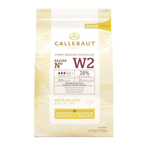 Callebaut White Belgian Chocolate Callets 2.5 kg ADEA COFFEE