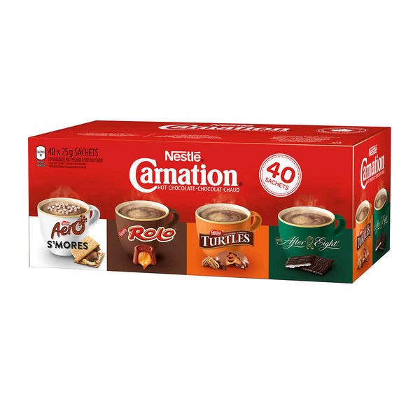 Carnation Hot Chocolate Variety Pack, 40-count