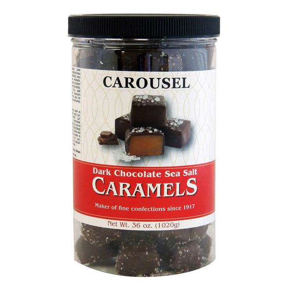 Carousel Dark Chocolate Covered Sea Salt Caramels, 1.02 kg adea