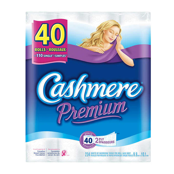 Cashmere Premium 2-ply Bathroom Tissue Pack of 40