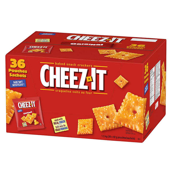 Cheez-It Original Baked Snack Crackers 36-count