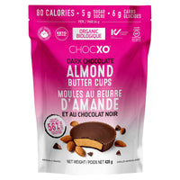 Chocxo Organic Dark Chocolate Almond Butter Cups, 420 g adea