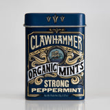 Clawhammer Organic Mints Strong Peppermint 12 Pack Tin