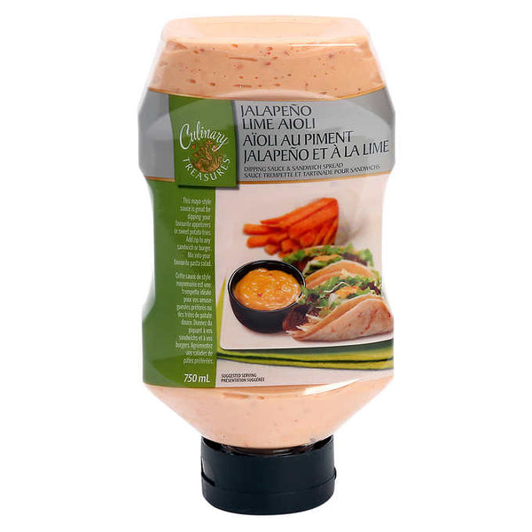 Culinary Treasures Jalapeño Lime Aioli 2 × 750 mL