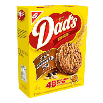 Dad's Oatmeal Chocolate Chips Cookies 48 packs of 2
