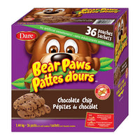 Dare Bear Paws Chocolate Chip 36 Pack