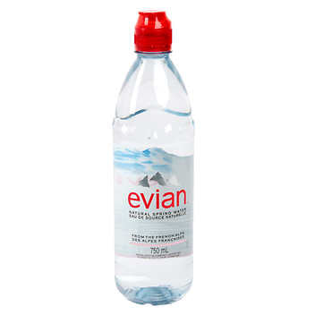 Evian Natural Spring Water sport cap 750 mL