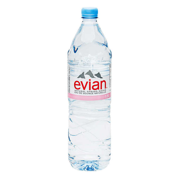 Evian Natural Spring Water 12 × 1.5 L
