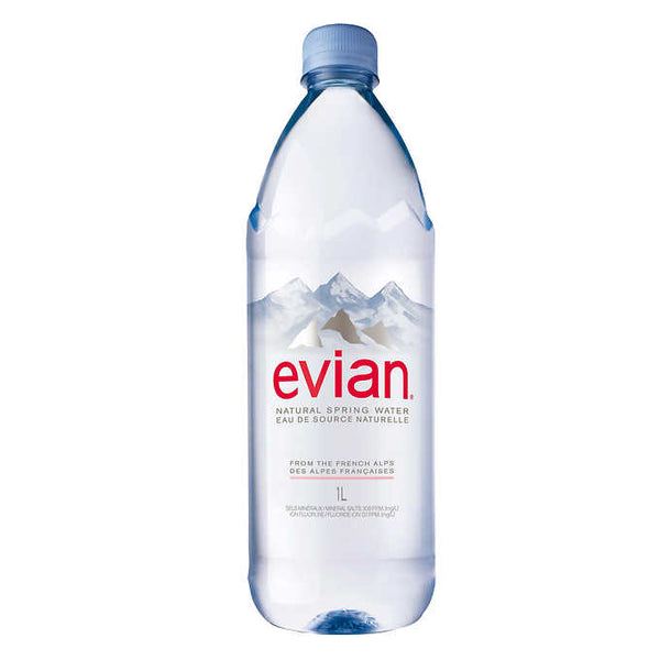 Evian Natural Spring Water 1 L
