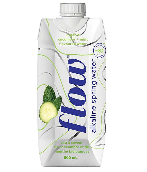 Flow Naturally Alkaline Organic Cucumber Mint Spring Water 500 mL