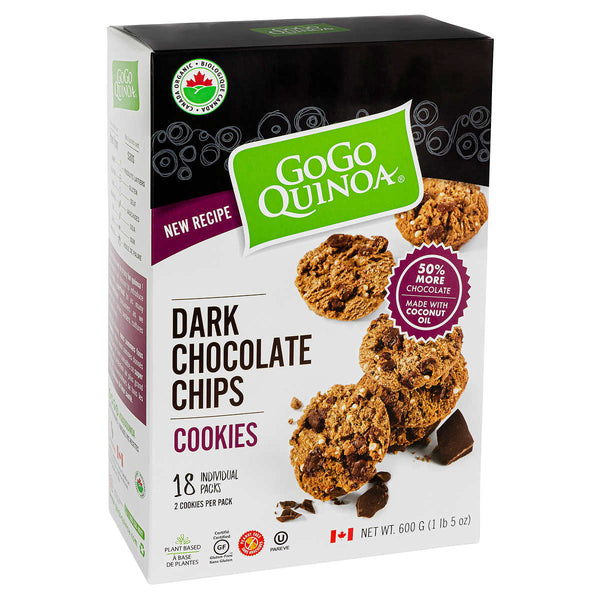 GoGo Quinoa Organic Dark Chocolate Chip Cookies