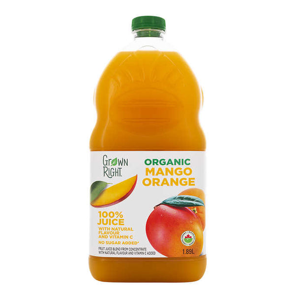 Grown Right Organic Mango Orange Juice 1.89 L