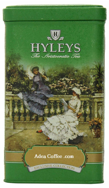Hyleys Tea English Loose Green Tea Tin Can