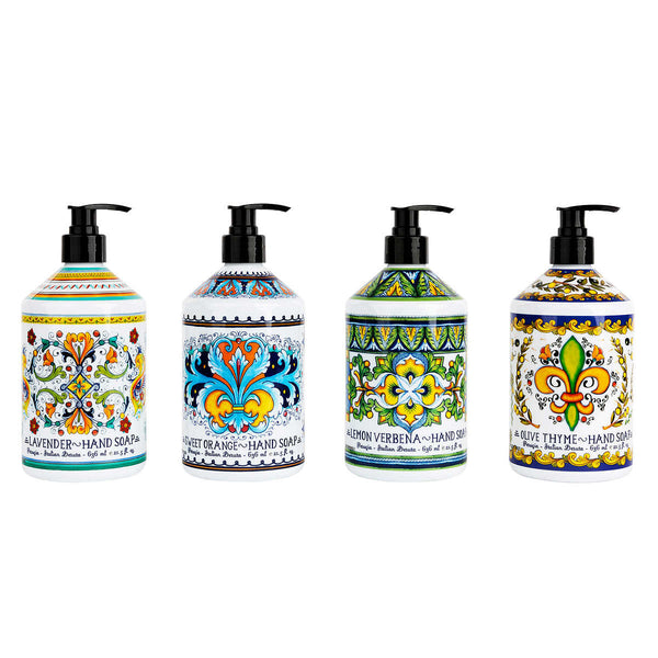 Italian Inspired Deruta Perugia Hand Soap 4x 636 mL ADEA COFFEE