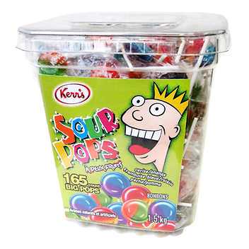 Kerr's Sour Pops Variety Pack Pack of 165