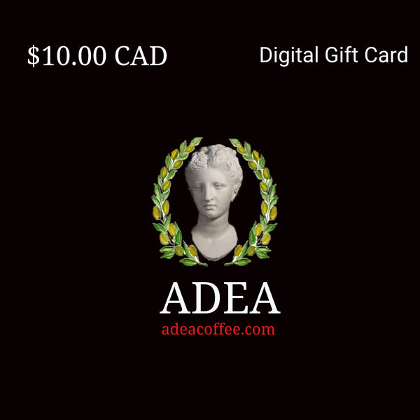 adea digital gift card $ 10.00 adea coffee
