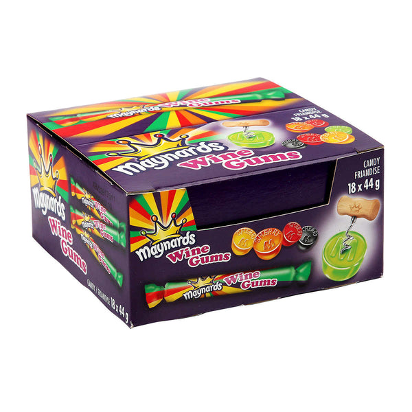 Maynards Wine Gum Rolls 18 × 44 g