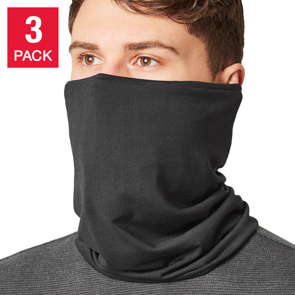 Mondetta 3 Layer Gaiter Face Cover, 3-pack