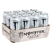 Monster Zero Ultra Energy Drink 12 × 473 mL