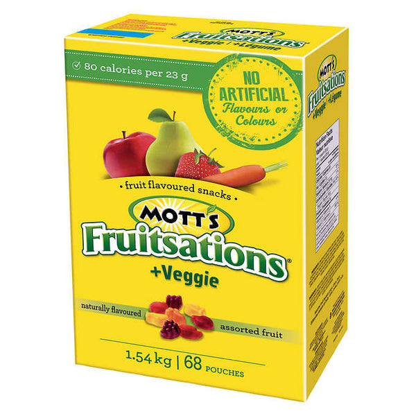 Mott's Fruitsations Assorted Fruit Snacks 68 × 22.6 g