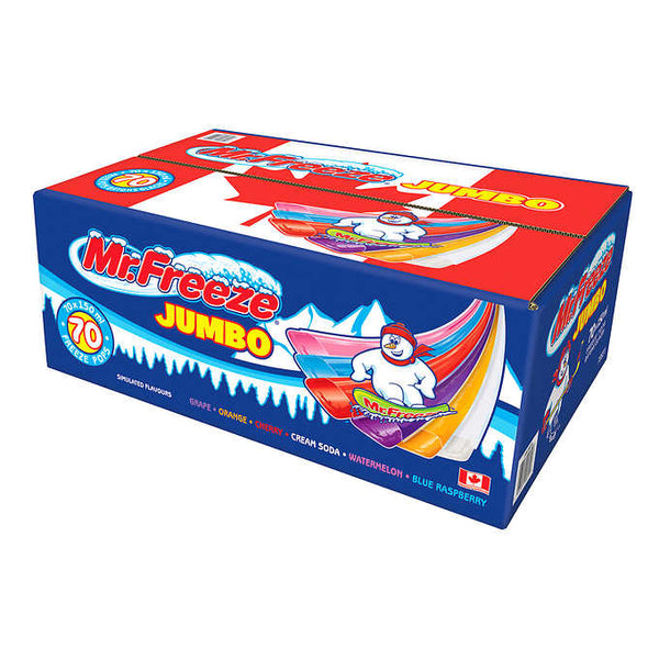 Mr. Freeze Jumbo Freeze Pops 70 × 150 mL