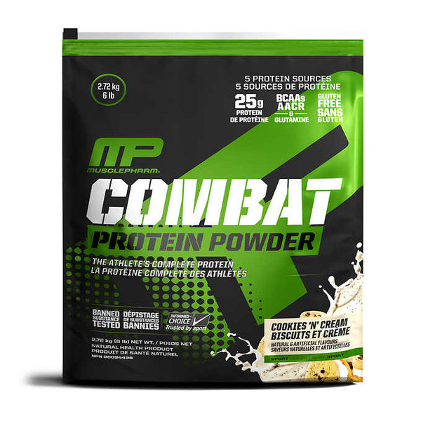 MusclePharm Combat Protein Powder Cookies 'N' Cream Flavour 2.72 kg ADEA COFFEE