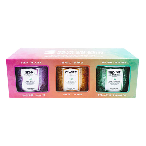 Naturally Vain Bath Salts, 3 x 454 g adea health and beauty