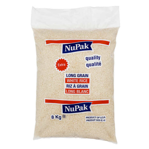 NuPak Long Grain White Rice 8 kg