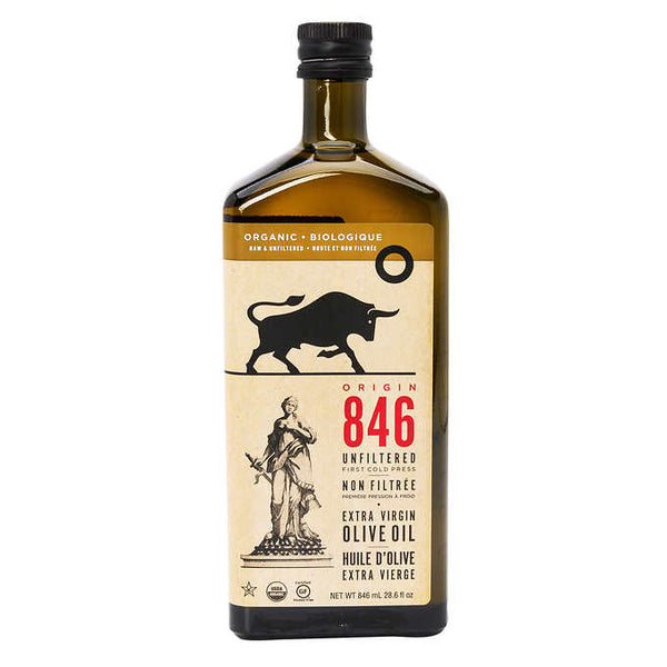 Origin 846 Unfiltered Organic Extra Virgin Olive Oil 846 mL adea coffee