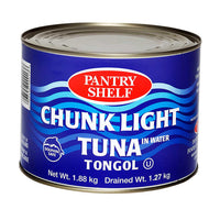 Pantry Shelf Chunk Light Tongol Tuna in Water 1.88 kg