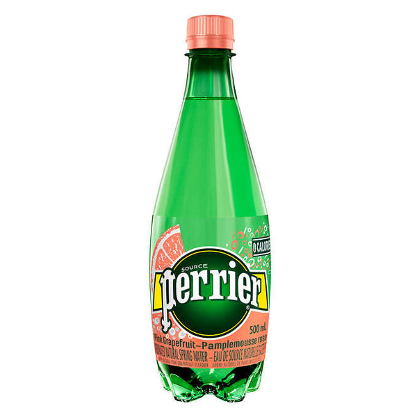 Perrier Pink Grapefruit Carbonated Natural Spring Water 500 mL