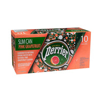 Perrier Pink Grapefruit Carbonated Water Slim Cans 10 × 250 mL