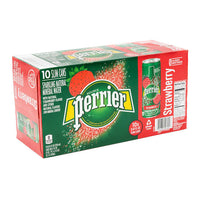 Perrier Strawberry Carbonated Water Slim Can 10 × 250 mL