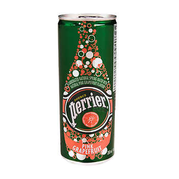 Perrier Pink Grapefruit Carbonated Water Slim Cans 250 mL