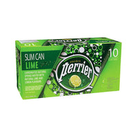 Perrier Lime Carbonated Water Slim Cans 10 × 250 mL