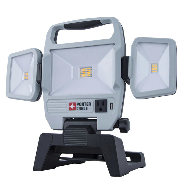 Porter Cable Triple Head Folding Work Light adea