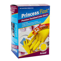 Princess Picot Latex Multi-purpose Gloves 12 pairs Large