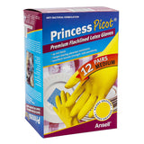 Princess Picot Latex Multi-purpose Gloves 12 pairs